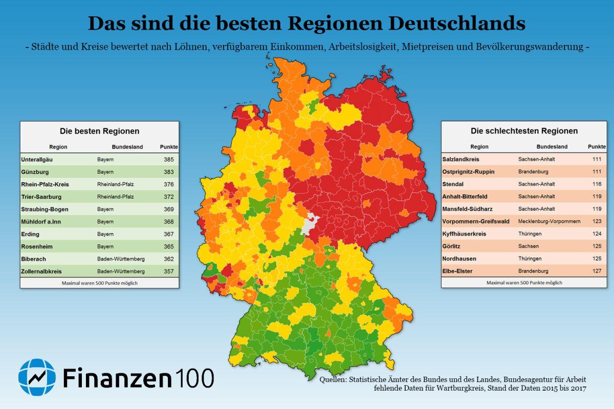 Die besten regionen deutschlands zum leben und arbeiten for Die besten innenarchitekten deutschlands