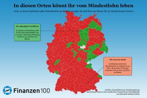diese karte zeigt wo ihr mit mindestlohn noch in deutschland wohnen k nnt finanzen100. Black Bedroom Furniture Sets. Home Design Ideas